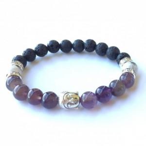 Amethyst Buddha Bracelet
