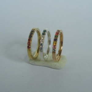 Mother's Birthstone Ring 2 MM. Comfort Fit Personalized Mothers Ring 1 to 9 Stone Ring(Band)