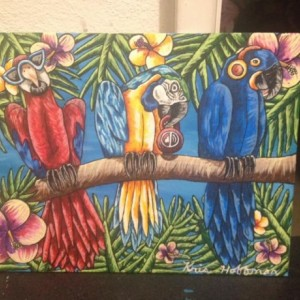 """""""Hear No Evil, Speak No Evil, See No Evil"""" Parrots"""