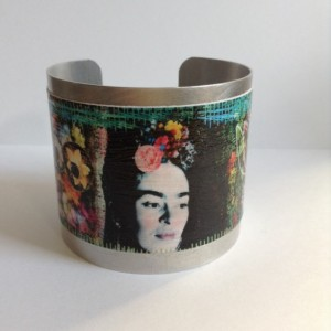 Frida Kahlo Cuff Bracelet, Frida Kahlo Artist on Cuff Bracelet. Cuff Bracelet