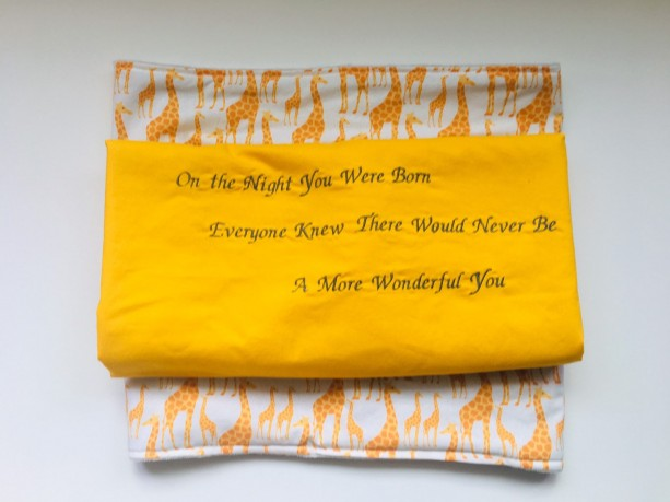 Gender neutral personalized baby boy baby girl blanket/Nancy Tillman/On the Night You Were Born/baby shower gift/baby coming home gift