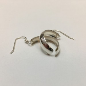Silver Synclastic Earrings—Small