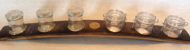 Bourbon Barrel Stave Relish Tray