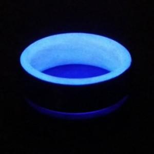 Carbon Fiber Purple Glow Ring