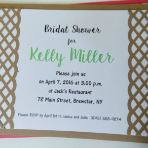 Hand-cut Layered Invitation in Lattice Style-Pack of 10-Perfect for Showers, Weddings, Sweet 16, Birthday, etc. Several Colors Available