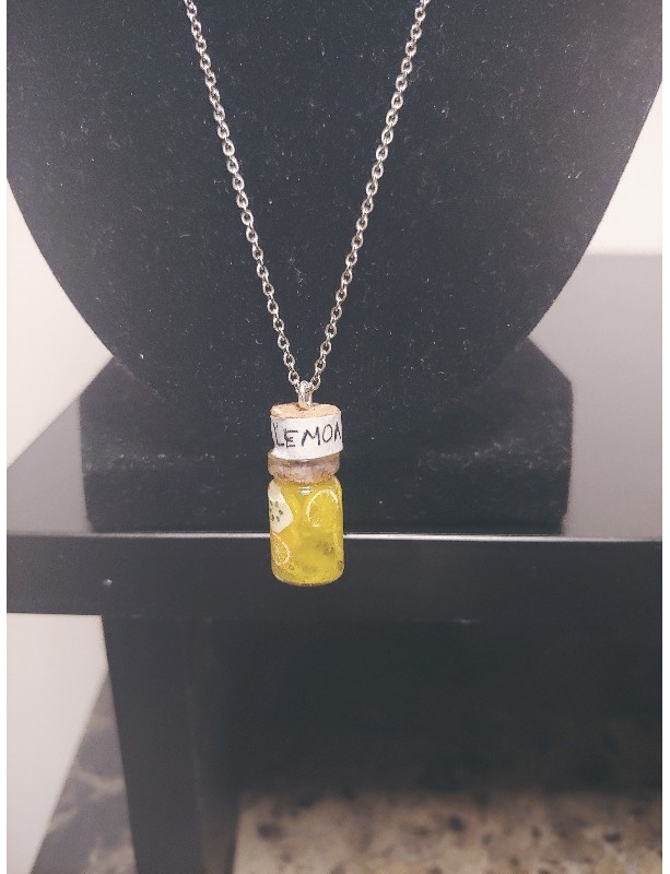 Miniature Lemonade Bottle Necklace