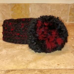 Handmade pompom headband