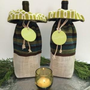 Wine bag, Hostess gift, Thank you Gift, Housewarming, Teacher gift, Party bag
