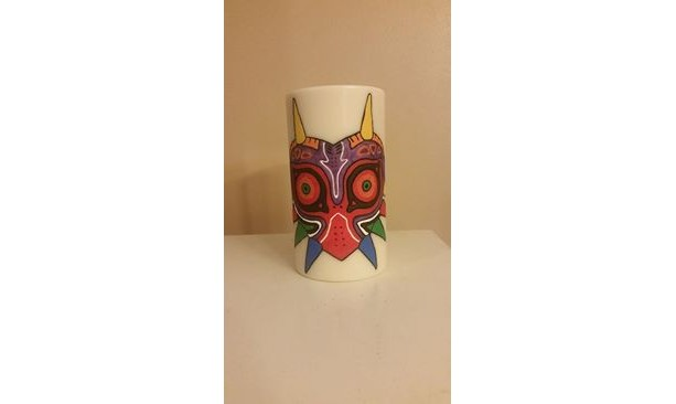 "3x6 ""Mask of Majora"" Pillar Candle"