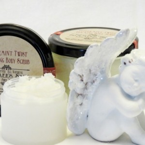 Peppermint Twist Foaming Sugar Scrub, Summer's Skin, All Natural, Handcrafted
