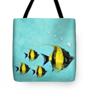 Tropical Deep Blue Sea Tote Bag