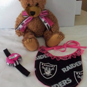 Raiders Baby Girl Fan Gift Basket