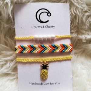 Pineapple friendship bracelets