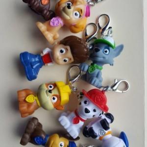 Paw Patrol Zipper Pulls, keychains
