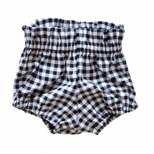High Waist Bloomer | Black Gingham