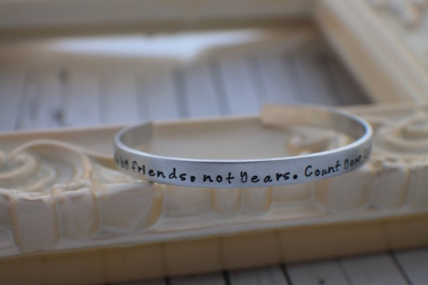 Personalized Cuff Bracelet Hand Stamped Jewelry - Quote Bracelet - Stacking Bracelets -