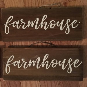 Small Rustic Wood Signs
