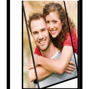"Semi-Gloss 8"" x 10"" Hardboard Photo Panel with Kickstand Easel with your images"