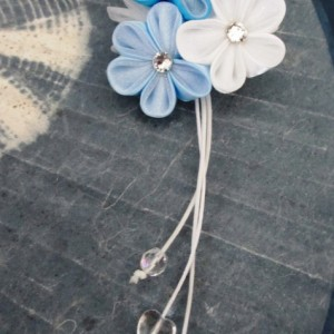 Perfectly Blue Shidare Kanzashi