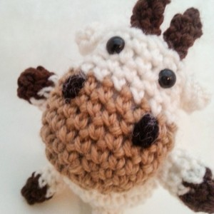 Crochet Amigurumi Plush Toy Cow Childrens Toy