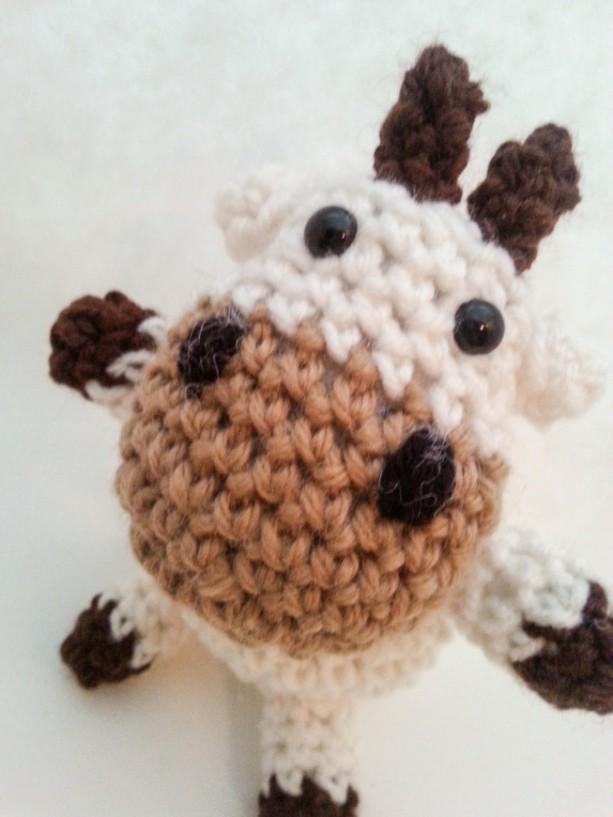 Crochet Amigurumi Plush Toy Cow Childrens Toy