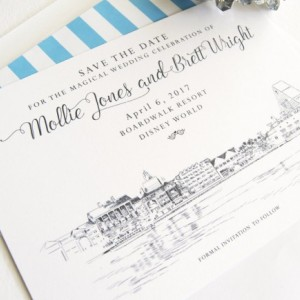 Boardwalk Resort Orlando, Disney Save the Dates (set of 25 cards)