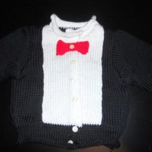 Knit Tuxedo Top