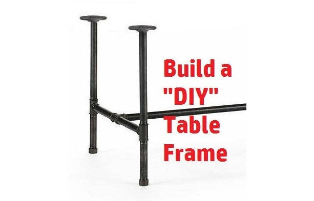 """Black Pipe Table Frame/Table Legs """"DIY"""" Parts Kit--Black Pipe- 1"""" x 68"""" long x 24"""" wide x 40"""" tall"""