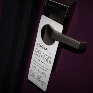 Wedding Door Hanger-.Personalized door hanger for out of town guests. Destination wedding door sign-Door Tags-set of 10