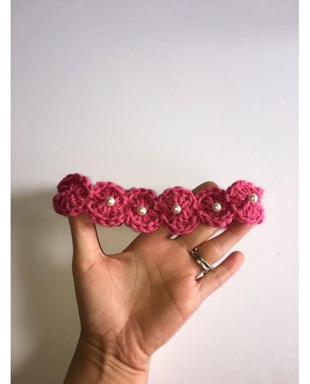 Crocheted baby headband