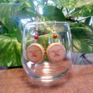 Yuengling bottle cap earrings