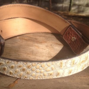 "Hand Carved Leather Belt (36"")"