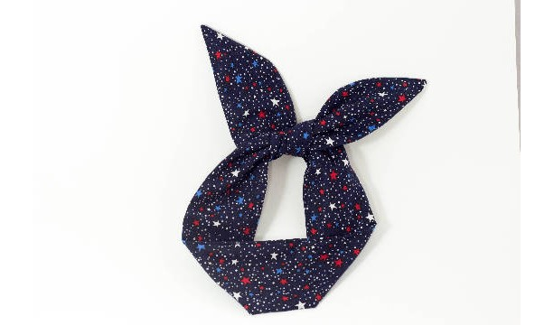 SALE **Red White and Blue Stars Collection of Wire Headbands, Free Shipping, Rockabilly Style, Rockabilly inspired, Handmade