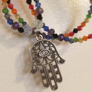 Hamsa Hand Chakra Jewelry Set OOAK Protection Jewelry Set
