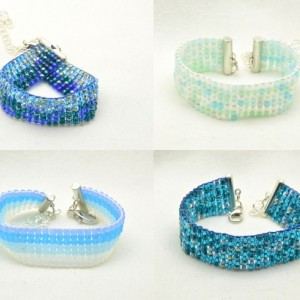 Custom Woven Beaded Bracelets for stealth stimming