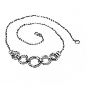 Chain necklace / 5 mobius / chain maille