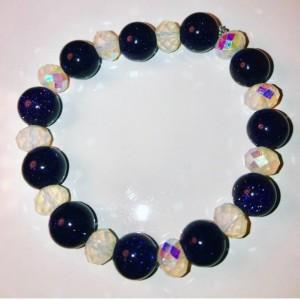 Exquisite, Gorgeous Blue Sandstone/Crystal Bracelet