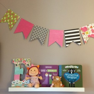Mix and Match Bunting - Baby Shower - Bridal Shower - Party Bunting - Paper Bunting - Bunting Banner - Baby Shower Girl