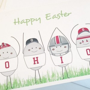 Set of three (3) OHIO Easter Egg blank greeting cards. Easter card. Blank greeting card. Ohio State. Ohio State Buckeyes. OSU card. Buckeye card. OHIO card.