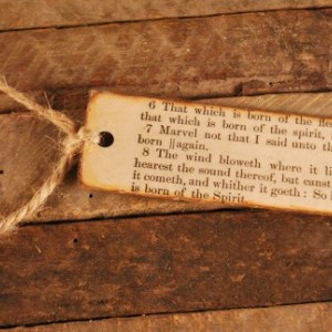 Antique Bible Bookmark - CUSTOM Bookmark, Choose Your Verse, Christian Bookmark, KJV, King James, Verse Bookmark, Scripture Bookmark, Jesus