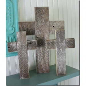 Reclaimed wood crosses