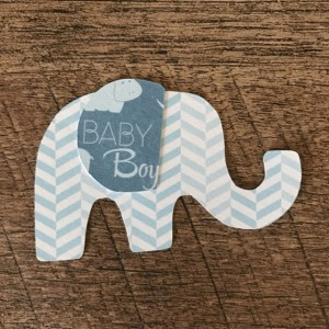 Elephant Cupcake Toppers - Gender Reveal Cupcake Toppers - Elephant Baby Shower - Gender Reveal Party - Boy or Girl - Baby Shower
