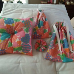 Valentines Day Themed Handmade Lot, Valentines Day Gifts, V-Day gift bags Drawstring Bags, Handmade Pillow, Gifts for Her, Cloth Gift Bags