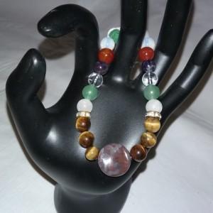 Bloodstone & Various Healing Gemstones w/Lava Stone Diffuser Bracelet
