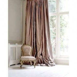 Dusty Rose Dupioni Silk draping