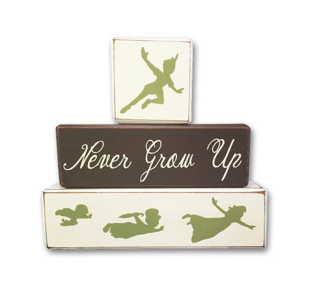 Peter pan nursery quote never grow up decor neverland playroom di ...