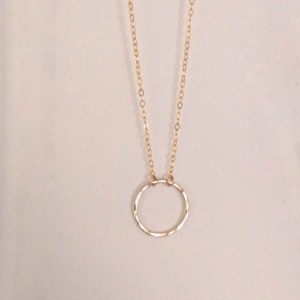 Gold circle necklace, little gold circle necklace, hammered circle necklace, hammered gold circle necklace, tiny gold circle necklace