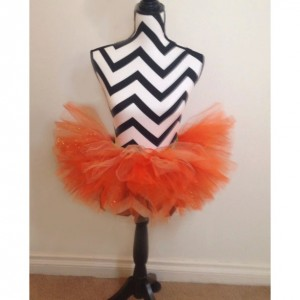 Pumpkin Perfect Sparkle Orange Tutu -  Children & Pre-Teen Sized