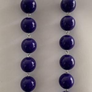 Purple ball earrings