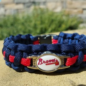 Atlanta Braves Paracord Bracelet MLB Officially Licensed Charm